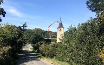 Un chantier de rénovation hors normes à l'église